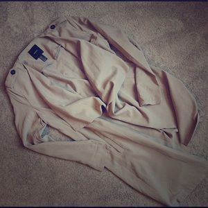 F21 light weight trench jacket